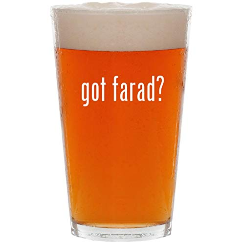got farad? - 16oz All Purpose Pint Beer Glass ()