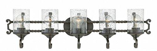 (Hinkley 5545OL-CL Casa Vanity, 5-Light 500 Total Watts, Olde Black)