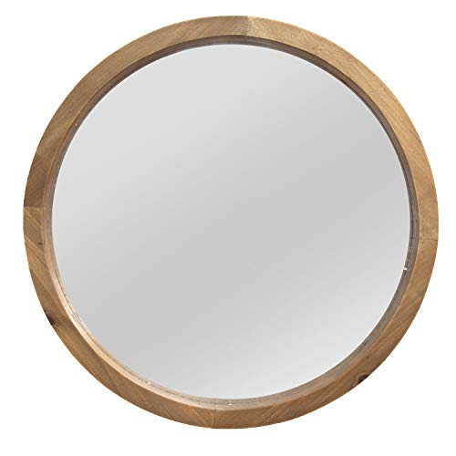 Stratton Home Decor Maddie Wood - With Bathroom Frame Round Wood Mirrors
