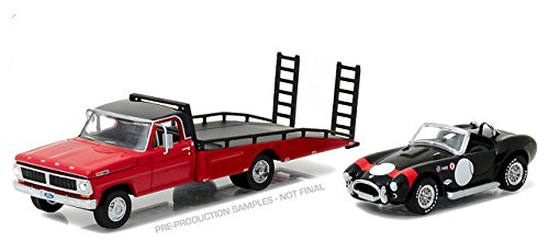 GREENLIGHT 1:64 H.D. TRUCKS SERIES 8 - 1970 FORD F-350 RAMP TRUCK AND SHELBY COBRA 427 SC (1970 Ford Truck)