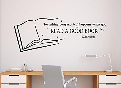read a good book wall quotes jk rowling vinyl decal sticker school library home art decor
