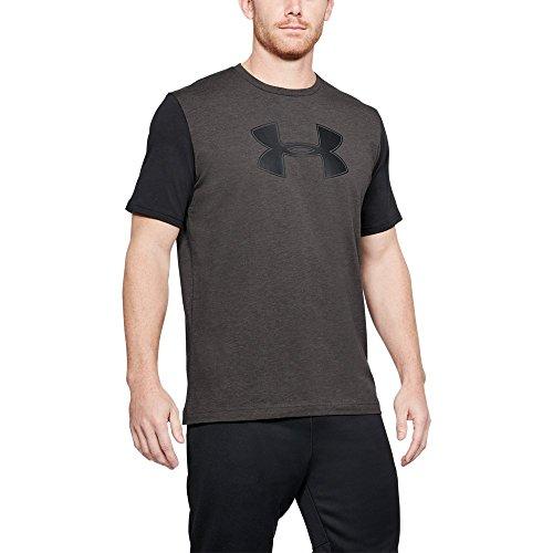 Under Armour Men's Better Big Logo T-Shirt, Charcoal Medium Heat/Black, Medium