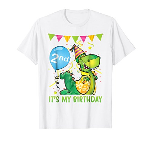 2nd Birthday Shirt For Kids Dance Dinosaur Funny (Dancing Dinosaurs)