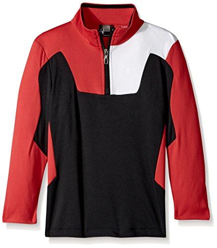 Spyder Boy's Ambush Long Sleeve T-Neck, Black/Red/White, - Ambush Red