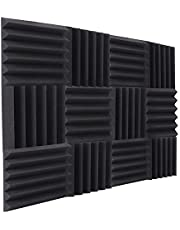 12 Pack Acoustic Foam Panels Soundproof Studio Foam for Walls Sound Absorbing Panels