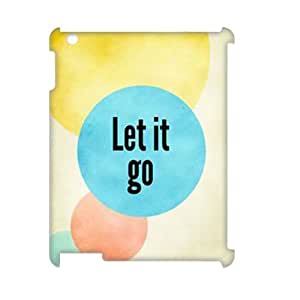 Let it Go iPad2,3,4 3D Case Cover, Let it Go DIY 3D Phone Case, iPad2,3,4 Custom Case