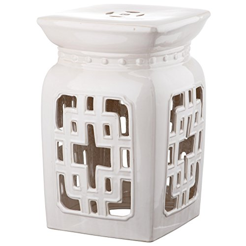 Perfect Safavieh Castle Gardenu0027s Collection Glazed Ceramic Cream Beijing Filigree Garden  Stool