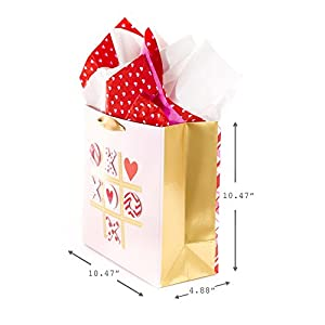 Hallmark Signature Large Gift Bag with Tissue (Tic Tac XOXO)
