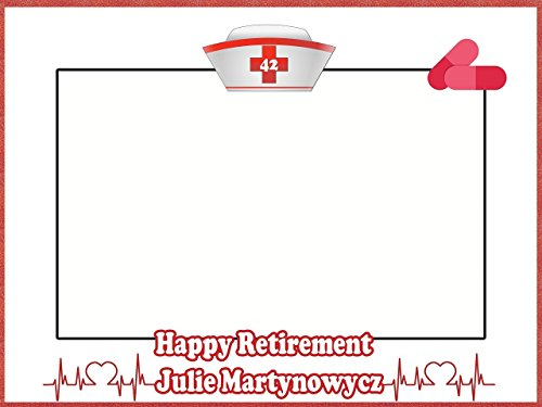 Custom Retirement Photo Booth Frame Prop - Size 36x24, 48x36; Personalized Police party, Retirement selfie frame, Police party Job Retirement Photo Frame - Handmade DIY Party Supply Photo Booth Props]()