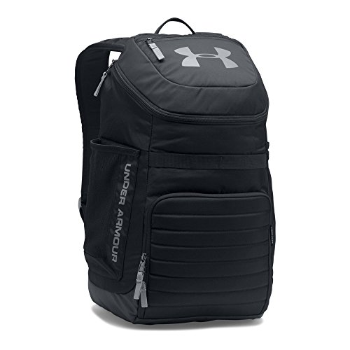 Under Armour Undeniable 3.0 Backpack,Black (001)/Steel, One Size Fits All (Under Armour Basketball Bag)