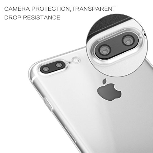 purchase cheap 9b516 10f43 iPhone 7 Plus Case, IMABAO Clear Transparent Protection Case With iPhone 7  Screen Protector 3D Touch Compatible-Tempered Glass Film Matte Anti-Glare  ...