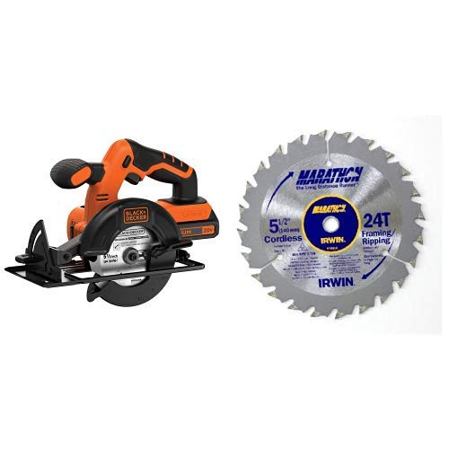 BLACK DECKER 20V MAX 5-1 2-Inch Cordless Circular Saw BDCCS20C