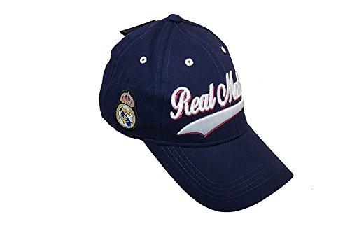 c31e88d463076 Real Madrid Football Club Official Logo Soccer Adjustable Hat Cap Navy Blue  C1Y05