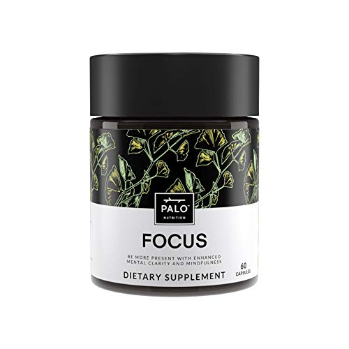 Focus |All-Natural Brain Booster (60 ea)-Nootropic for Memory & Mental Clarity - with Ginkgo Biloba, Bacopa Monnieri, Gotu Kola, Ashwagandha & Mucuna Pruriens.|by PALO Nutrition