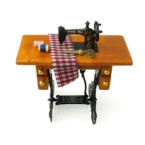 Yapeer 미싱 메탈 봉제 툴 가구 돌하우스 악세사리 인테리어 (미싱,체크)