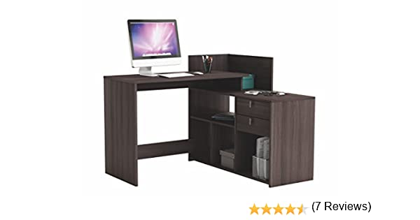 Abitti Escritorio Mesa de Estudio Ordenador 121cm. Color Roble ...