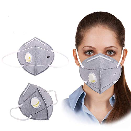 BLEQYS® Breathing Dust Mouth Mask for Air Pollution, Replaceable Activated Carbon with N95 Filter Pin (PACK OF-1) Price & Reviews