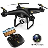 JJRC GPS Drone with Camera for Adults, Quadcopter with Auto Return Home, Adjustable Wide-Angle Camera, Follow Me, Altitude Hold, Tap Fly Functions, Includes 2 Batteries, Long Control Range, Black
