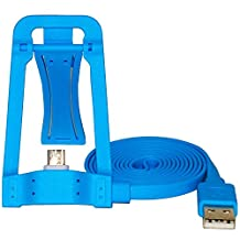 Hmily® Folding Cell Phone Charging Holder Android Mobile Phone Charging Stand Cradle USB Charger Adapter Micro USB Data Cable Charger For Samsung Galaxy S5 4 3 HTC Smartphones MP3 And Camera (Blue)