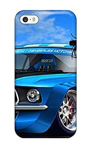 New Shockproof Protection Case Cover Case For Iphone 5/5S Cover / Boy And Racer Car Cartoon Case Cover
