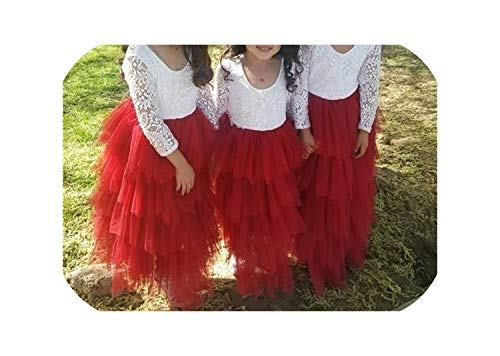 Summer Dress Backless Teenage Party Princess Dress Children Costume for Kids Clothes,Red,7 -