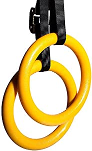 PHAT Gymnastic Rings Olympic gym rings Set, Fitness Rings with Adjustable Buckles Straps for Pull Ups & Up