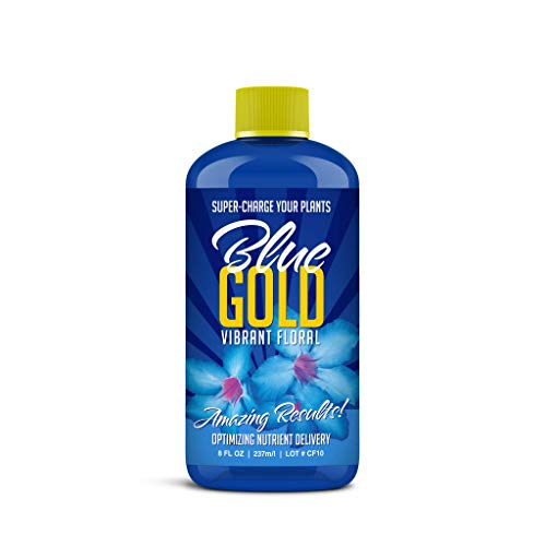 Blue Gold Vibrant Floral Organic Herb & Mineral Wetting Agent Plant Food, Concentrate 8 fl. oz. Bottle (House Plant Antifungal)