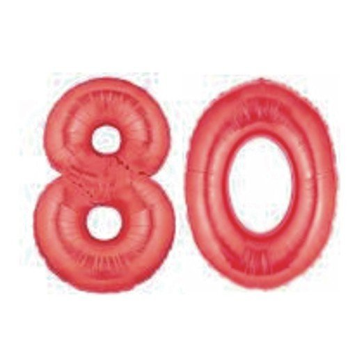 Grabo Giant 80th Red Number Balloons]()