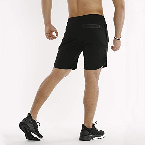 MECH-ENG Mens Workout Running 2 in 1 Shorts Training Gym 7 Short with Pockets