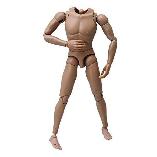 BQLZR Flesh Colour 1/6 Scale Action Figure Male Muscle Muscular Naked Body Toys Model Version 4.0