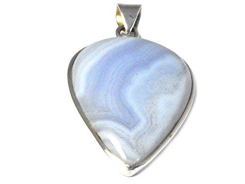 Pendentif en Argent Sterling 925en agate Bleu-(blp1506161)