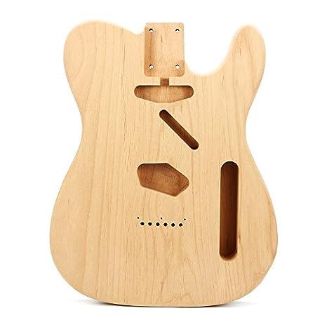 Taihang Cuerpo eléctrico de bricolaje de madera de caoba para partes de guitarra estilo Fender ST: Amazon.es: Instrumentos musicales