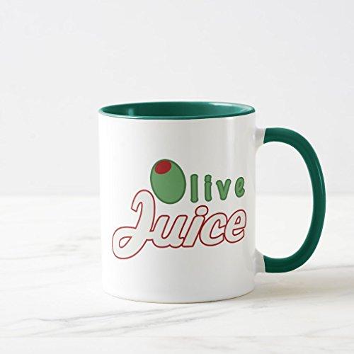 Zazzle Olive Juice Mug, Hunter Green Combo Mug 11 oz (Tate Olive)
