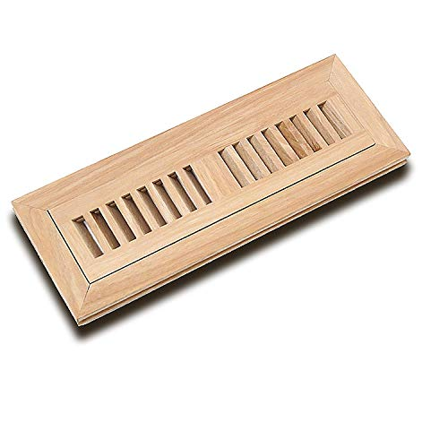 """WELLAND 2X12 Inch Vents Hickory Wood Flush Mount Floor Register Vent Unfinished, 3/4"""" Thickness"""