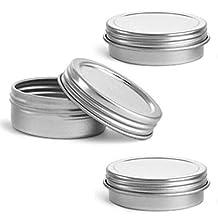 MagnaKoys® Silver Metal Tins w/ Top Lid Continuous Thread Cap craft Organizer Container 1 oz & 2 oz (2, 0.71 x 1.97) by MagnaKoys®