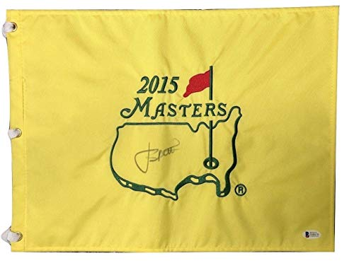 Jordan Spieth Signed Autographed 2015 Masters Flag BECKETT - Beckett Authentication - Autographed Golf Pin Flags ()