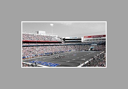 Ralph Wilson Stadium - Football Touch of Color - 36x20 Matte Poster Print Wall Art TOC
