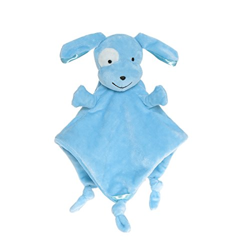 Wingingkids Security Blanket for Baby Soft Blanket Toys Blue Puppy