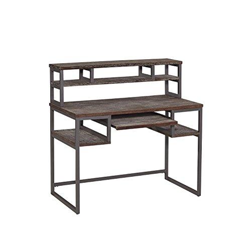 Home Styles 5053-162 Barnside Metro Student Desk and Hutch, Gray (Metro Metal Desk)