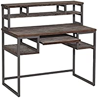 Home Styles 5053-162 Barnside Metro Student Desk and Hutch, Gray Finish