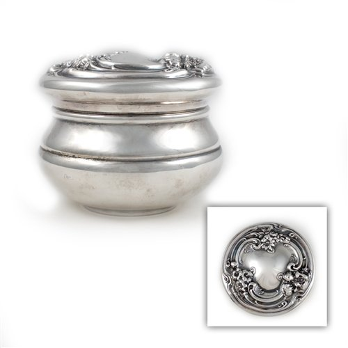 Vanity Jar, Silverplate Nouveau Floral D - Silverplate Vanity Shopping Results