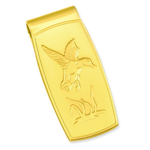 Gold Plated Duck Money Clip