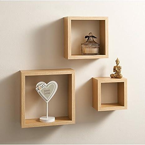 Mensole In Rovere.Lokken 3 Cubi Mensole Finitura Rovere Amazon It Casa E Cucina