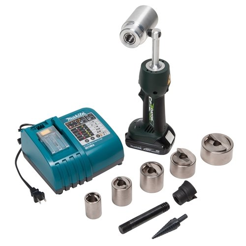 Greenlee LS50L11SP Speed Punch Kit with LS50 Battery Powered Punch Driver