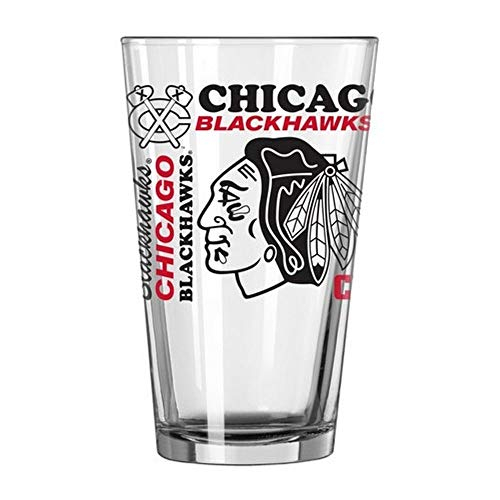 Blackhawks Glass Chicago - Chicago Blackhawks Official NHL 16 fl. oz. Spirit Pint Glass