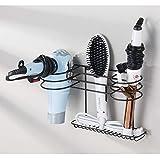mDesign Bathroom Wall Mount Metal Hair Care