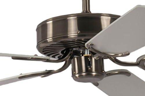 Ventilador de techo Potkuri Plata / blanco 132 cm: Amazon.es ...
