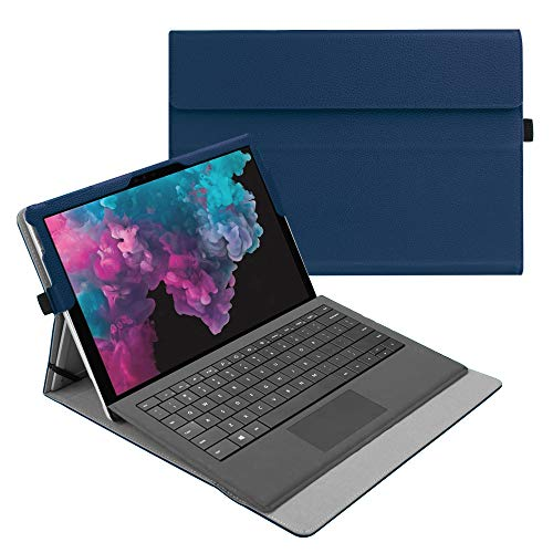Fintie Case for Microsoft Surface Pro 6 / Pro 5 / Pro 4 / Pro 3 / Pro LTE - Multiple Angle Viewing Portfolio Business Cover, Compatible with Type Cover Keyboard (Navy)