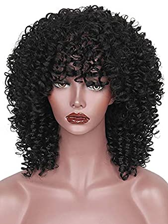 Amazon.com : KIXIGO Short Curly Wig Medium