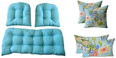 3 Pc Wicker Cushion Set